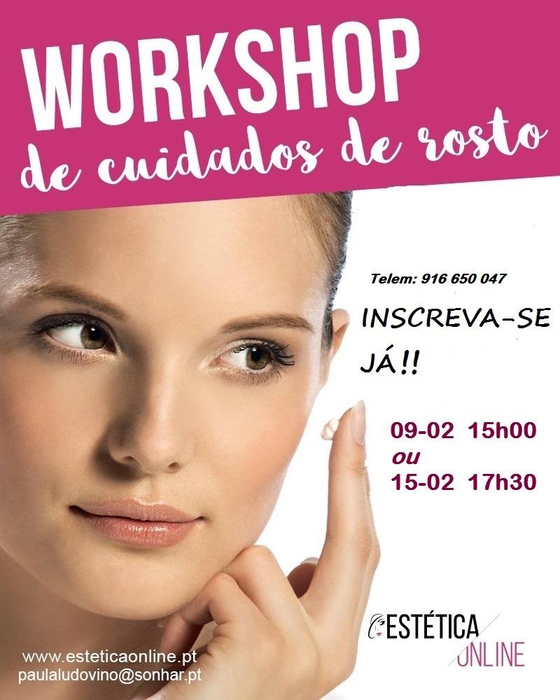 workshop cuidados do rosto - esteticaOnline- Fevereiro